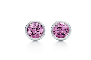 tiffany pink sapphire earrings