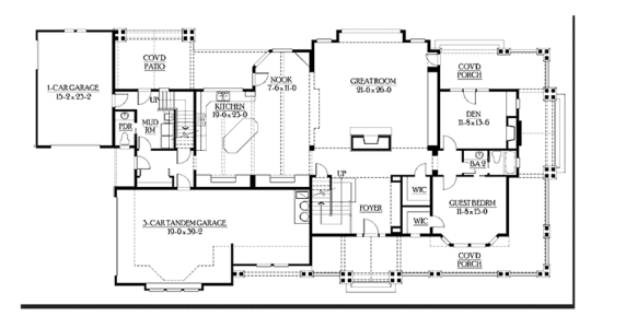 craftsman house first floor