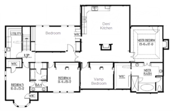 craftsman house lower floor