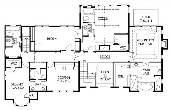 craftsman house second floor