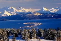 Winter view of Kachemak Bay